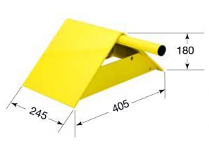 Cale de roue acier jaune