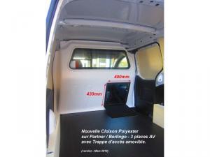 Séparation chauffeur polyester pour BOXER